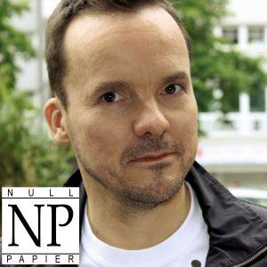 Presse: Jürgen Schulze, Null Papier Verlag, Foto mit Logo