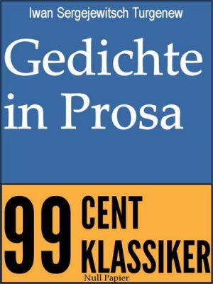 Gedichte in Prosa - Iwan Sergejewitsch Turgenew