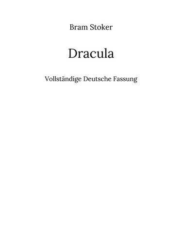 Dracula Null Papier Verlag