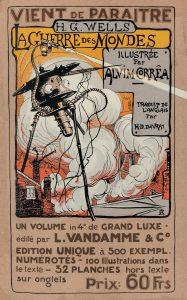 H. G. Wells - Krieg der Welten - Originalcover der französischen Ausgabe