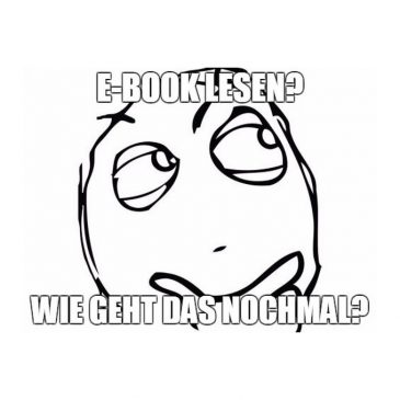 Wie bekomme ich mein E-Book geöffnet?